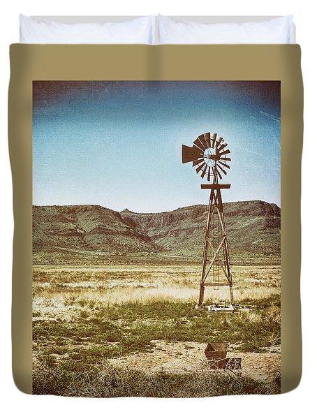 Wooden Windmill Art Duvet Cover