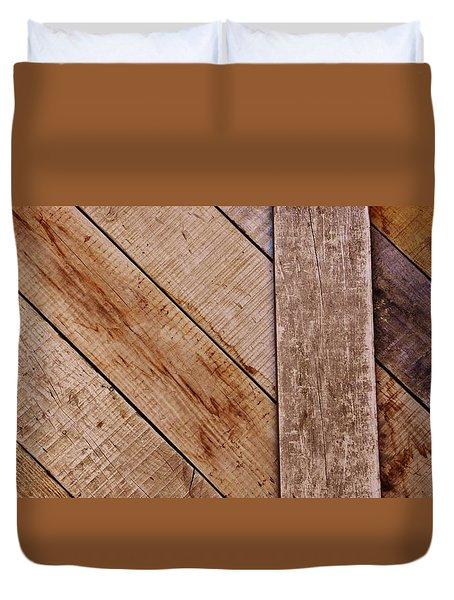 Duvet Cover featuring the photograph Wooden Window Shutters by Werner Lehmann