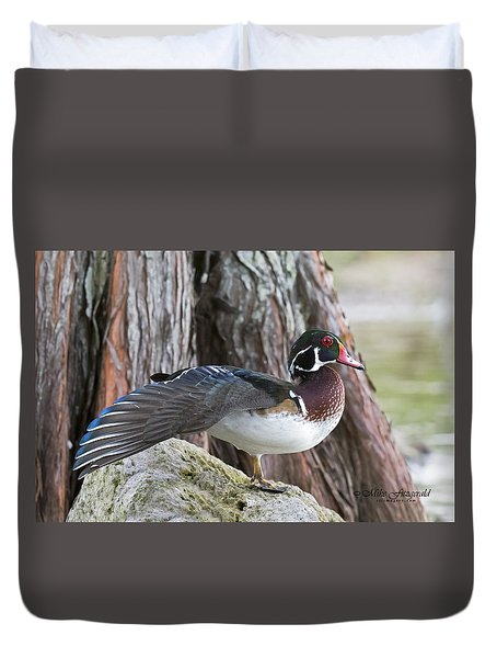 Woodie Stretch Duvet Cover