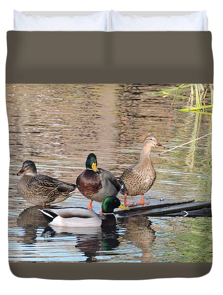 Woodies At Neary Duvet Cover