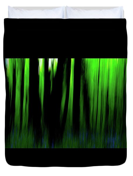 Woodland Abstract Iv Duvet Cover