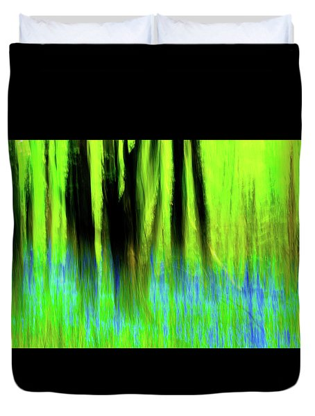 Woodland Abstract Vi Duvet Cover