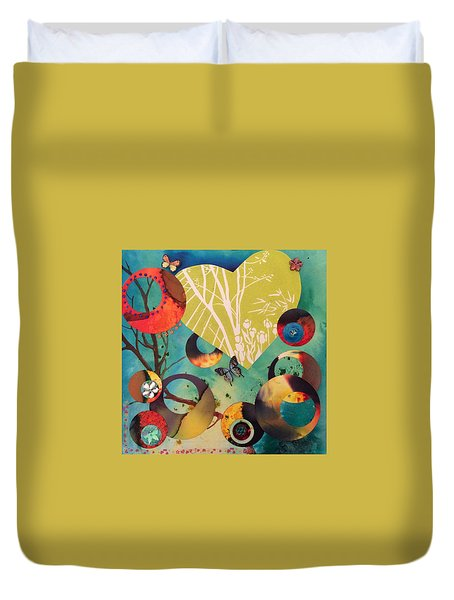 Woodland Dusk Duvet Cover by Dawn Beedell