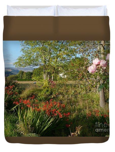 Garden In Early Autumn Duvet Cover