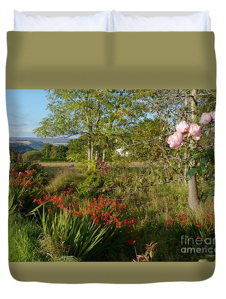 Woodland Garden In Early Autumn Duvet Cover