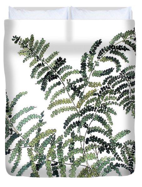 Woodland Maiden Fern Duvet Cover