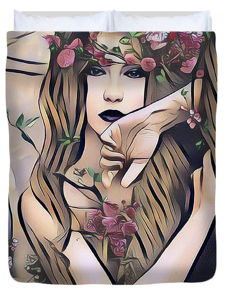 Woodland Nymph Duvet Cover