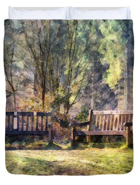 Woodland Seating Duvet Cover