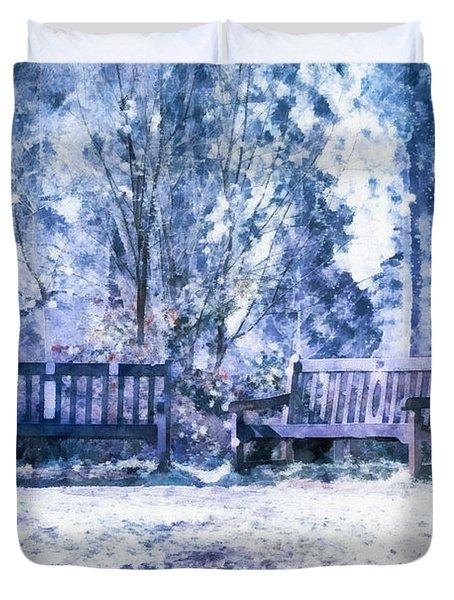Woodland Snow  Duvet Cover