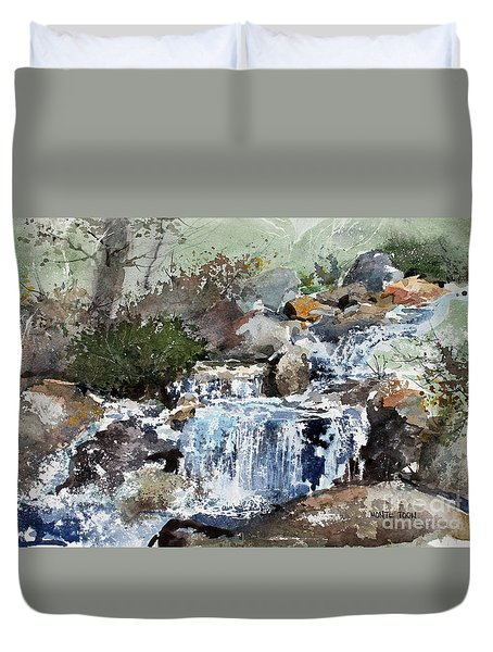 Woodland Stream Duvet Cover by Monte Toon