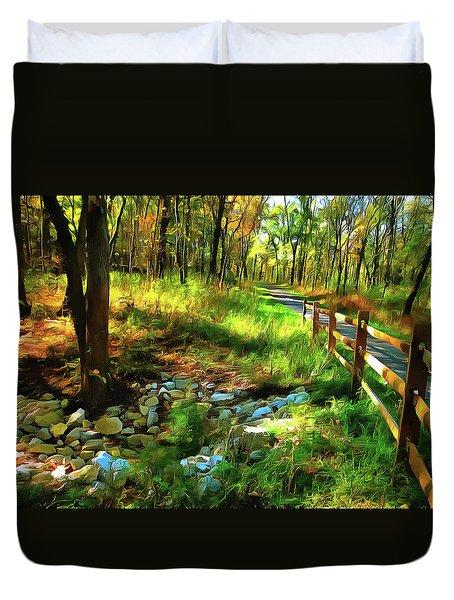 Woodland Symphony Duvet Cover by Cedric Hampton