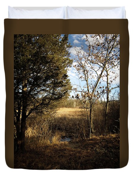 Woodland View  Duvet Cover by Kimberly Mackowski