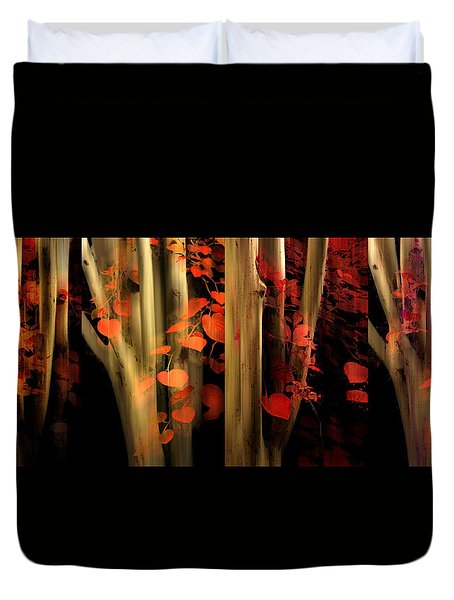 Duvet Cover featuring the photograph Woodland Whispers by Jessica Jenney