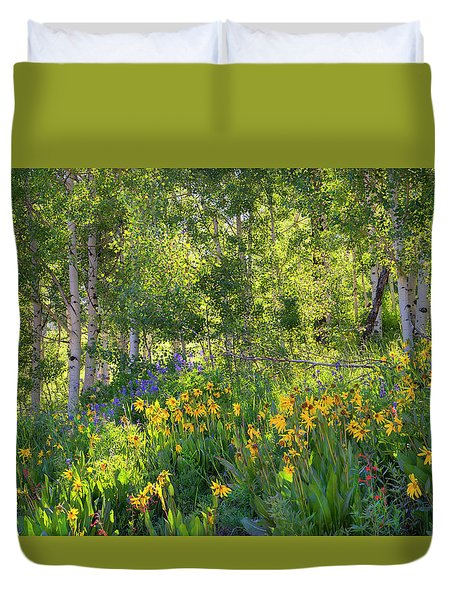 Woodland Wildflowers Duvet Cover