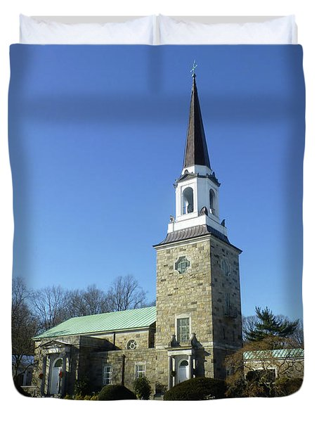 Woodlawn Cemetery Chapel Duvet Cover