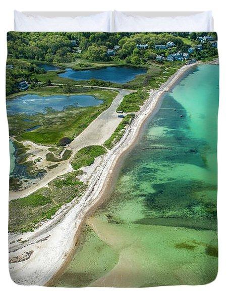 Woodneck Beach Duvet Cover