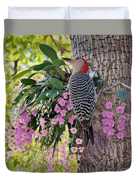 Woodpecker Heaven Duvet Cover