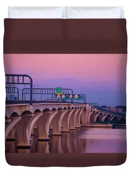 Woodrow Wilson Bridge Duvet Cover