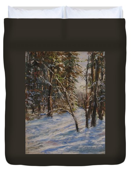 Woods And Snow At Two Below Duvet Cover by Jack Skinner