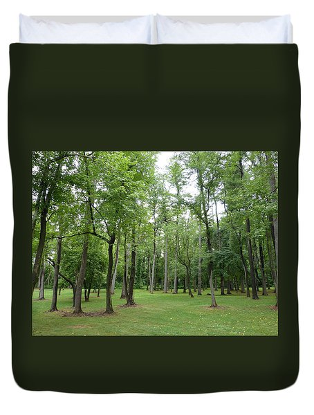 Duvet Cover featuring the photograph Woods At Lake Redman by Donald C Morgan