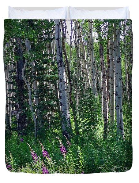 Woods Duvet Cover by Beth Saffer