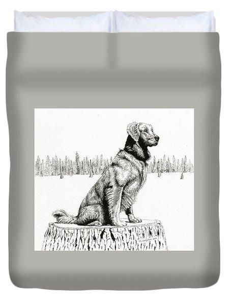Woods Dog Duvet Cover