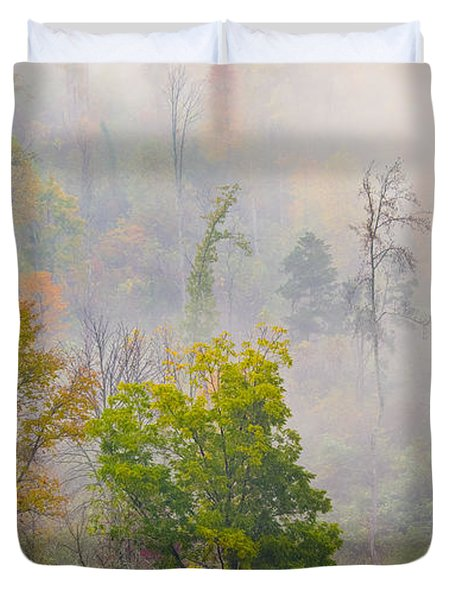 Woods From Afar Duvet Cover