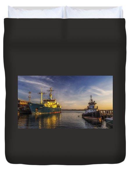 Woods Hole Ship Yard Duvet Cover