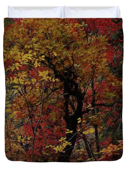 Woods In Oak Creek Canyon, Arizona Duvet Cover