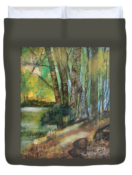 Woods In The Afternoon Duvet Cover