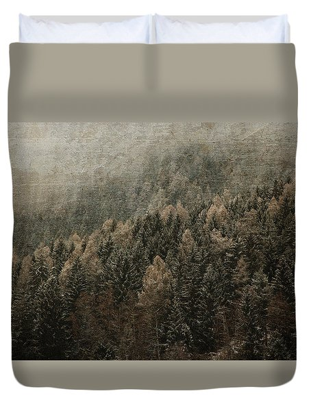 Woods In Winter Duvet Cover