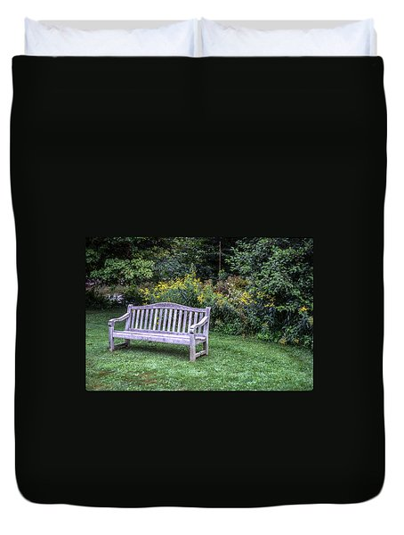 Woodstock Bench Duvet Cover