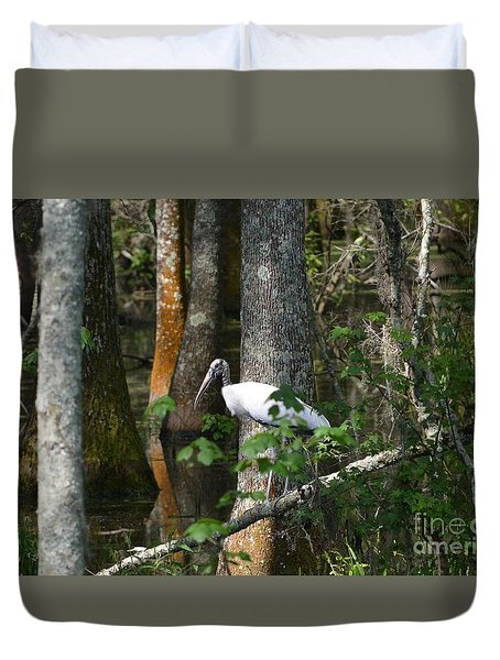 Woodstorks Swamp Duvet Cover