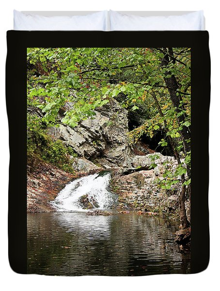 Duvet Cover featuring the photograph Woodsy Flow by Kristin Elmquist
