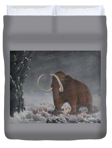 Wooly Mammoth......10,000 Years Ago Duvet Cover