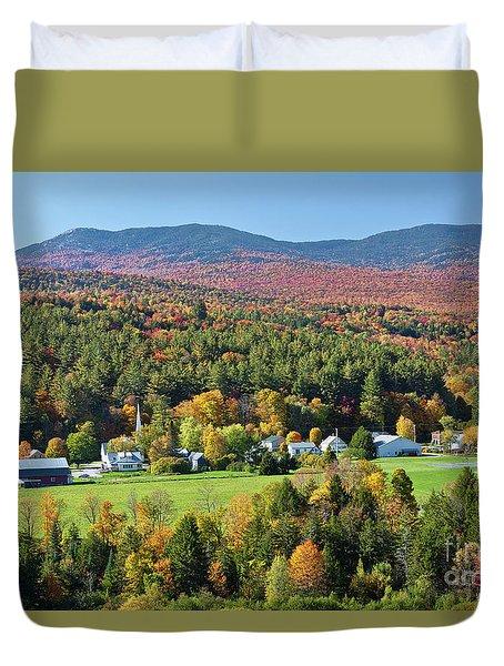 Worcester Vermont Autumn Duvet Cover
