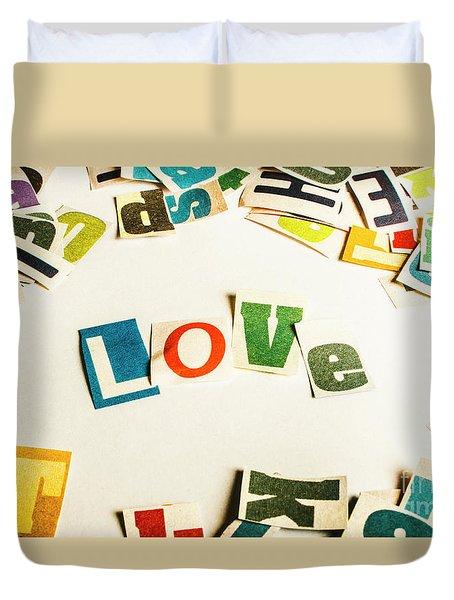 Word Of Love Duvet Cover