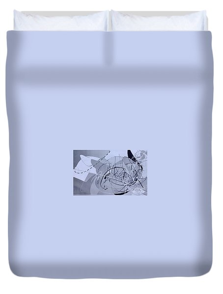 Duvet Cover featuring the digital art Word1 by Robert Anderson