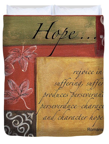 Words To Live By Hope Duvet Cover