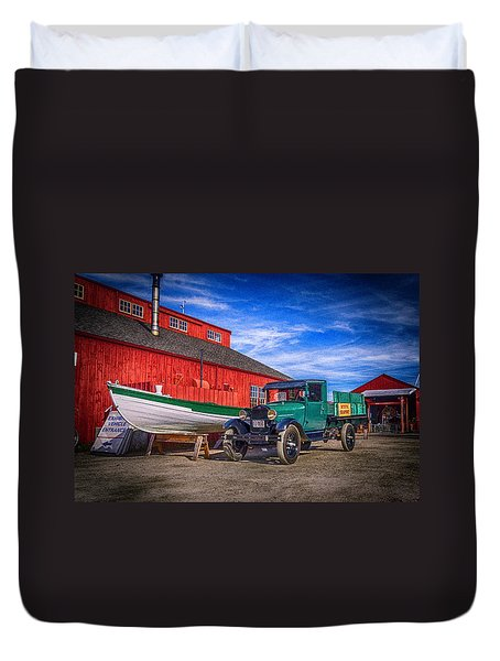 Work Truck, Mystic Seaport Museum Duvet Cover