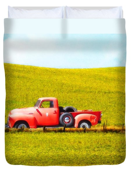Work Truck Duvet Cover