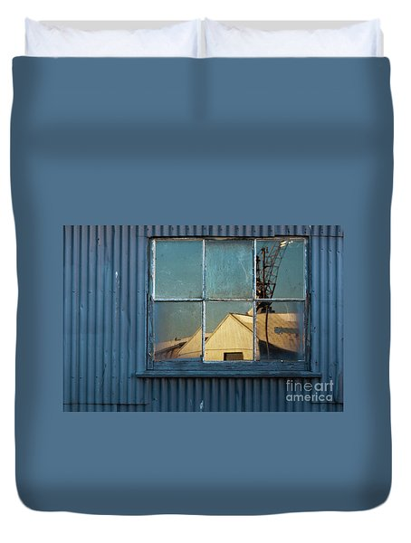 Duvet Cover featuring the photograph Work View 1 by Werner Padarin