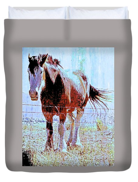 Workhorse Duvet Cover by Cynthia Powell