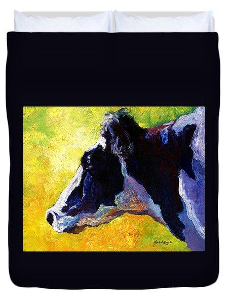 Working Girl - Holstein Cow Duvet Cover