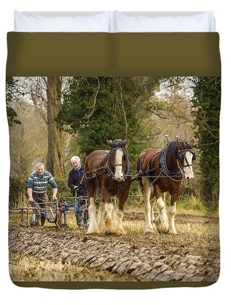 Working Horses Duvet Cover by Roy McPeak