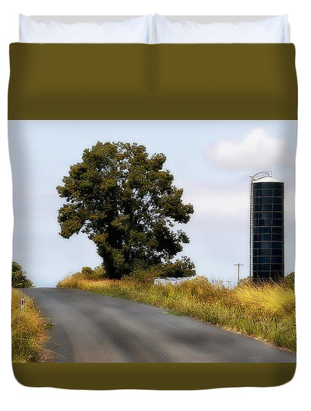 Duvet Cover featuring the photograph Working On The Land 0005 by Kevin Chippindall