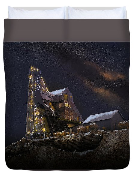 Working Through The Night Duvet Cover by J Griff Griffin