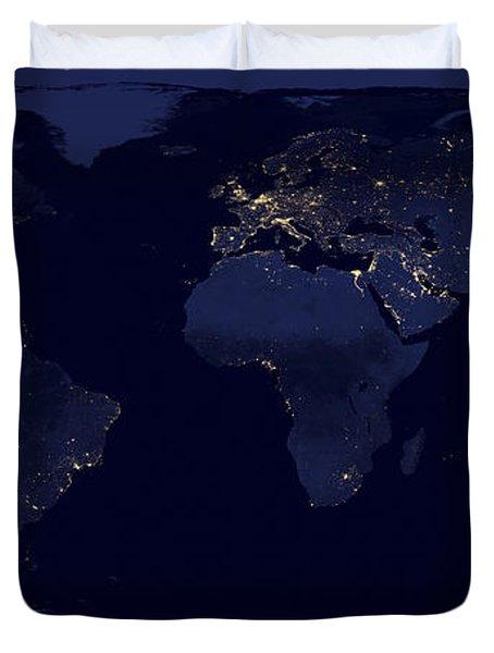 World City Lights Duvet Cover
