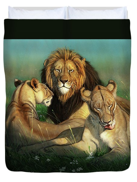 World Lion Day Duvet Cover