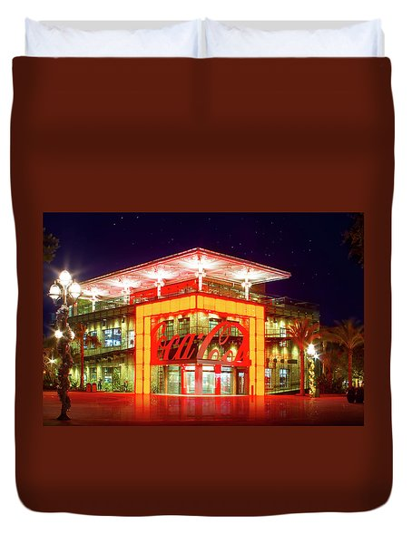 World Of Coca Cola At Disney Springs Duvet Cover by Mark Andrew Thomas